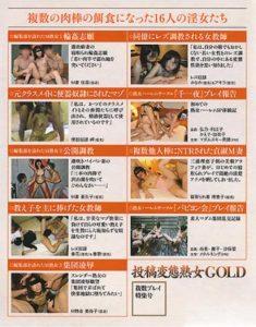 投稿変態熟女GOLD 複数プレイ特集号 裏表紙